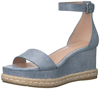 9753ee6c6 BCBGeneration Women s Addie Espadrille Wedge Sandal Blue 5.5 ...