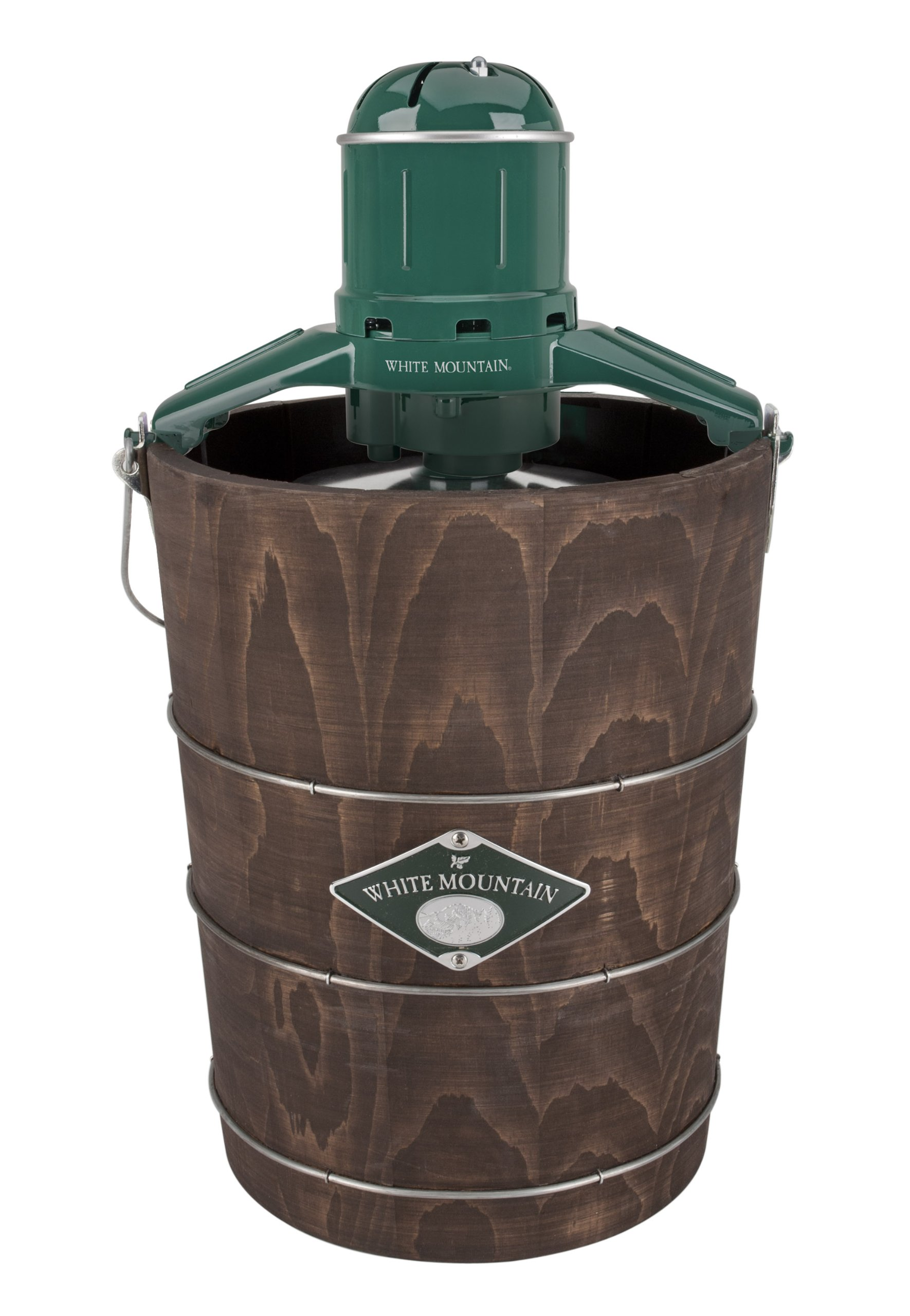 White Mountain Ice Cream Maker with Appalachian Series Wooden Bucket, 6-Quart Electric