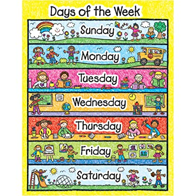 Carson Dellosa Days of the Week Chart (6392): Toys & Games