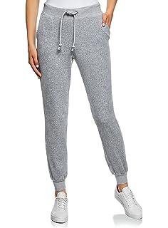 oodji Ultra Mujer Pantalones de Terciopelo con Puños: Amazon.es ...