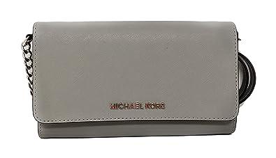 3de33fd292d935 Michael Kors Jet Set Travel Saffiano Leather Small Crossbody Bag Purse  Handbag Iphone Smart Phone Holder Case, Damson: Amazon.co.uk: Clothing