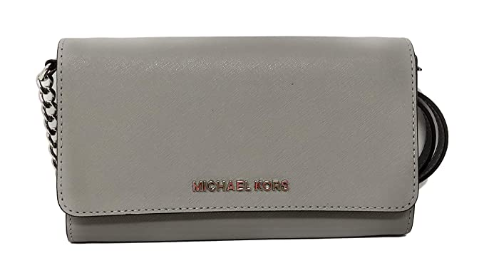 61a579852b12 Amazon.com: Michael Kor Jet Set Large Phone Crossbody Wallet Pearl ...