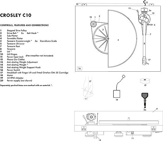 Crosley C10 Jugador de Registro Caoba: Amazon.es: Electrónica