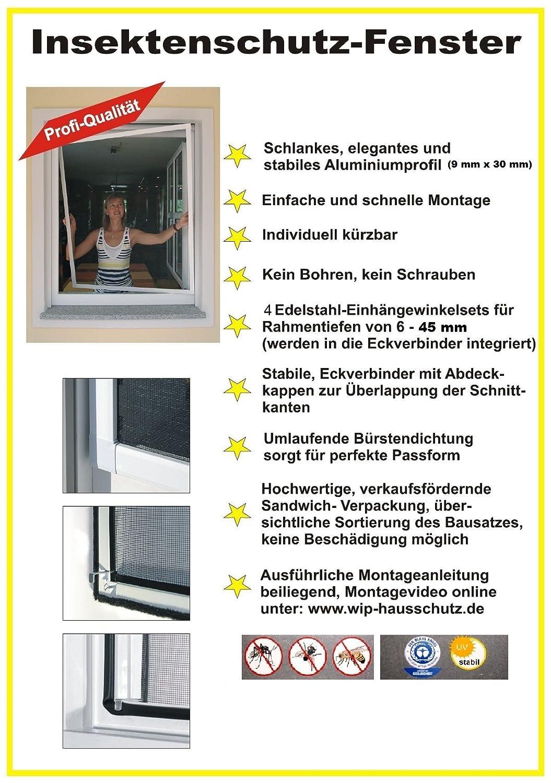 Insektenschutzfenster 130x150 Weiss Insektenschutzgitter Mit Rahmen Amazonde Baumarkt