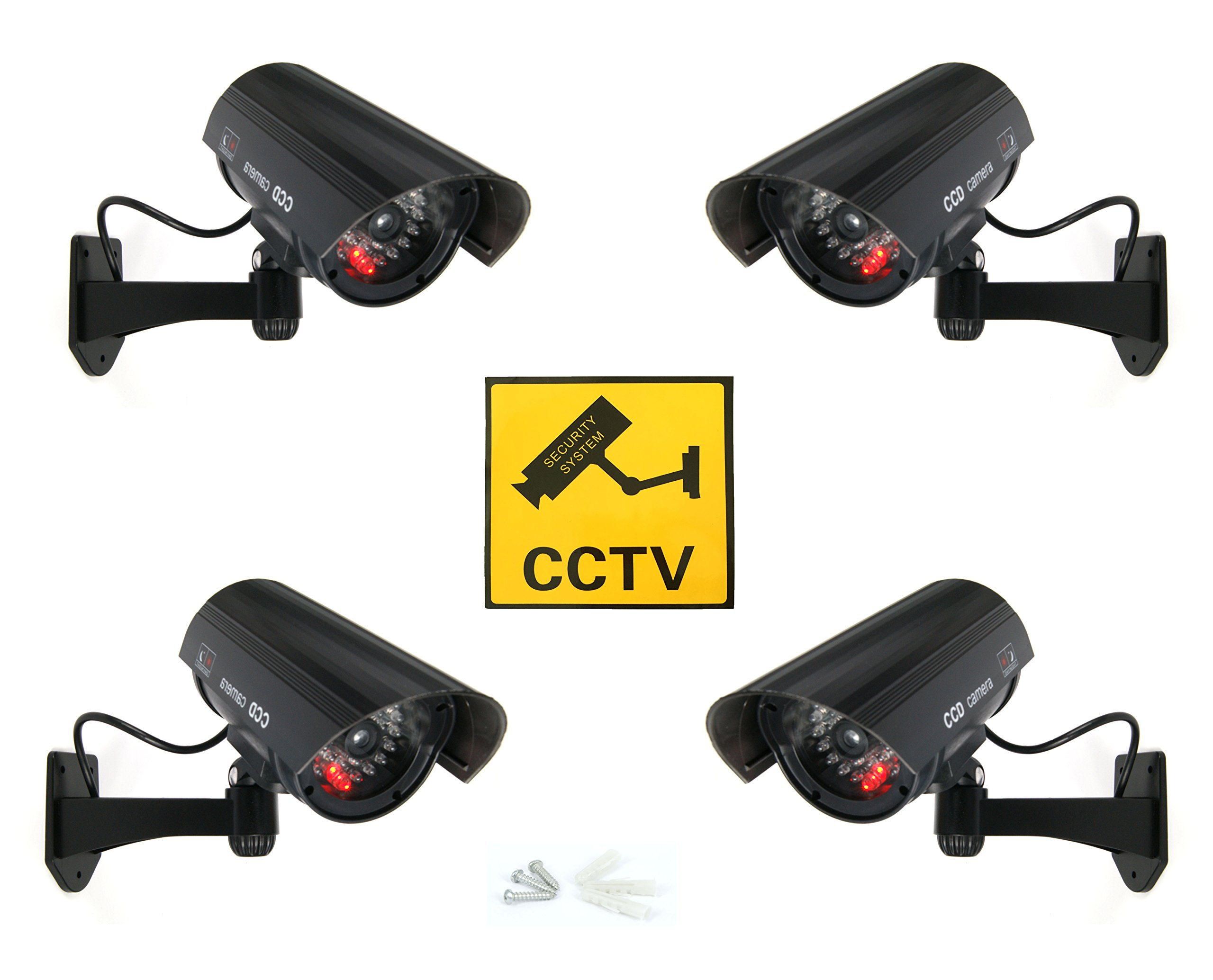 Negra Dummy Fake Cámara Vigilancia Falsa cámara de vídeo con LED rojo, 4x Dummy Kamera product image