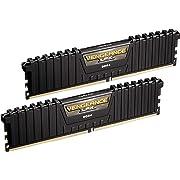 Corsair CMK16GX4M2B3000C15 Vengeance LPX Memorie XMP 2.0 di alte prestazioni per Desktop a Elevate Prestazioni, 16 GB (2 X 8 GB), DDR4, 3000 MHz, C15, Nero