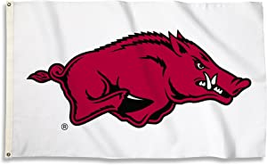 BSI NCAA College Arkansas Razorbacks 3 X 5 Foot Flag with Grommets