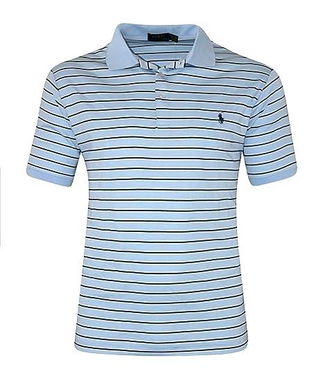 993e4e40 Polo Ralph Lauren Men's Big & Tall Striped Pima Soft-touch Polo Shirt BLUE (