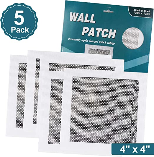 88in. 5pcs Wall Repair Patch Fiber Reinforced Wall Panel Fix Dry Wall Hole Ceiling Damages 44in 66in 88in
