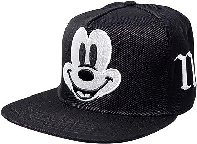 Disney Mickey Mouse Big Face Gorra Ajustable Snapback Negro ...