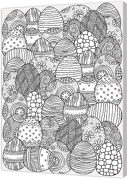 madera blanco//negro Cuadro con lienzo impreso para colorear Pintcolor 10468 50 x 40 x 3,5 cm