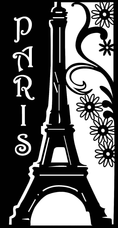 Marabu - Stencil A4, motivo: romantica Parigi, con la Tour Eiffel MR028800005