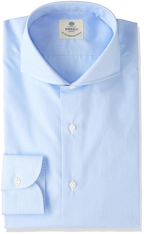 (ルイジ ボレッリ) LUIGI BORRELLI カッタウェイツイルクレリックシャツ B079TMNHS9 EU 37-(日本サイズXS相当)|Blue*White Blue*White EU 37-(日本サイズXS相当)