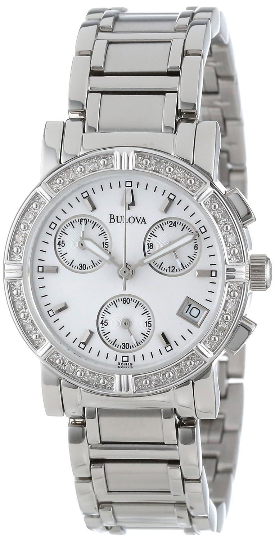 Bulova Women s 96R19 Diamond-Studded Chronograph Watch