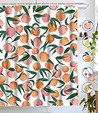 Tapejoy Fruit Shower Curtain, Summer Main Shower Curtain, Tempting Delicious Shower Curtain Sets Peach