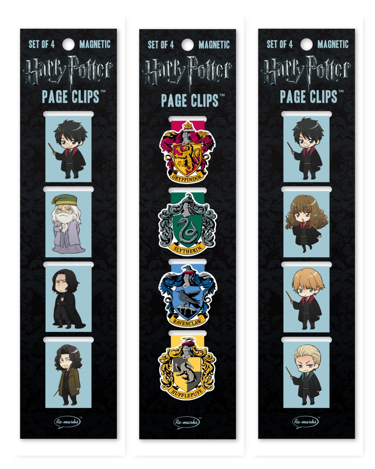 Re-Marks Harry Potter Anime Hogwarts, Anime Students, and Crests Page Clip 3 Pack