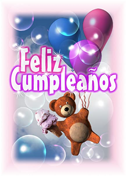 Image Unavailable Not Available For Color Spanish Happy Birthday Feliz Cumpleanos Greeting Card Blank Inside