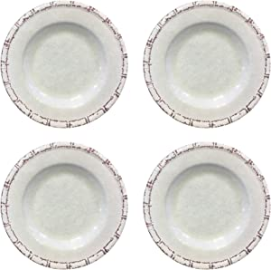 American Atelier Bamboo Dinner plate set, Diameter: 10 Inches, White