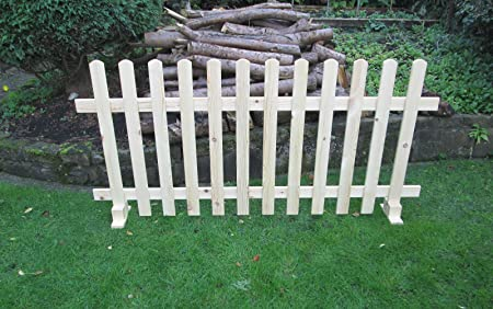 Timber Free standing Picket Fence Panels Smooth Timber 6ft X 3ft