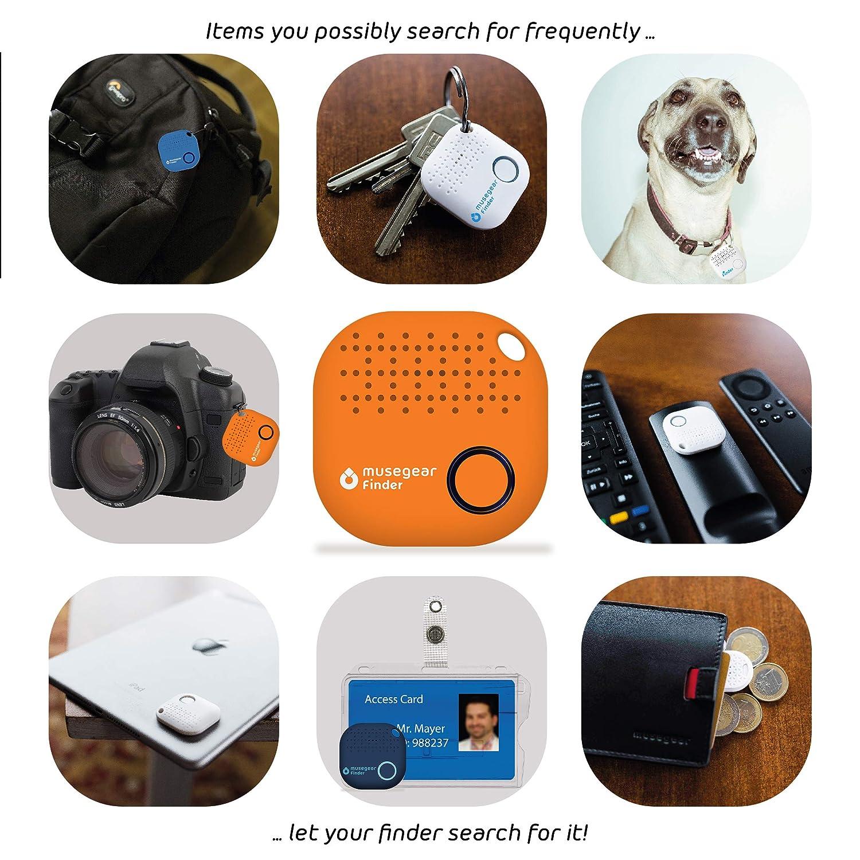dunkelblau 1er Pack I GPS Ortung//Kopplung I Schl/üssel Finden musegear/® Schl/üsselfinder mit Bluetooth App aus Deutschland I Maximaler Datenschutz