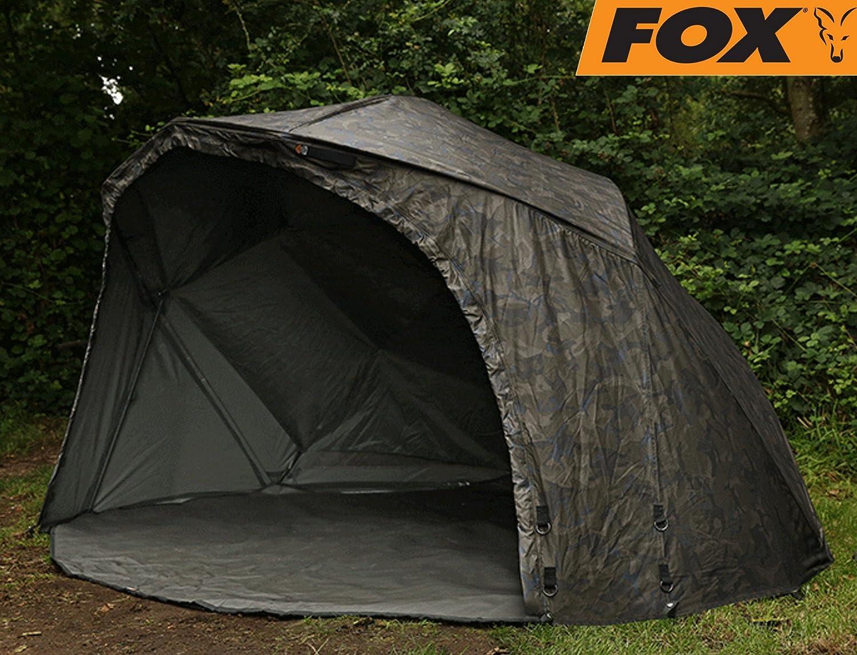 Fox Ultra 60 Brolly Ventec Ripstop Sistema Camo 178 x 262 x 128 cm - Pantalla para la Pesca de Carpas, Uhatex - Carpa para Pescar, Tienda: Amazon.es: ...