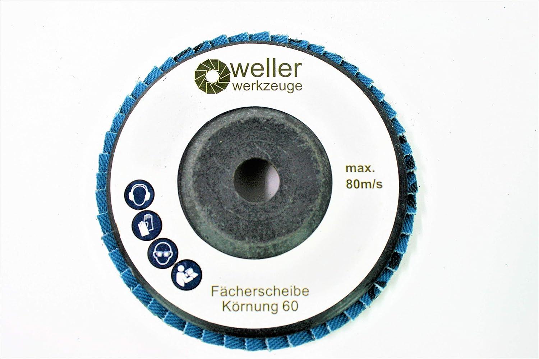 3er Set F/ächerscheibe Schleifscheiben Korn:60 passend f/ür Bosch GWS 10,8 10 8 12V 12 76 Zubeh/ör Stahl Edelstahl Holz