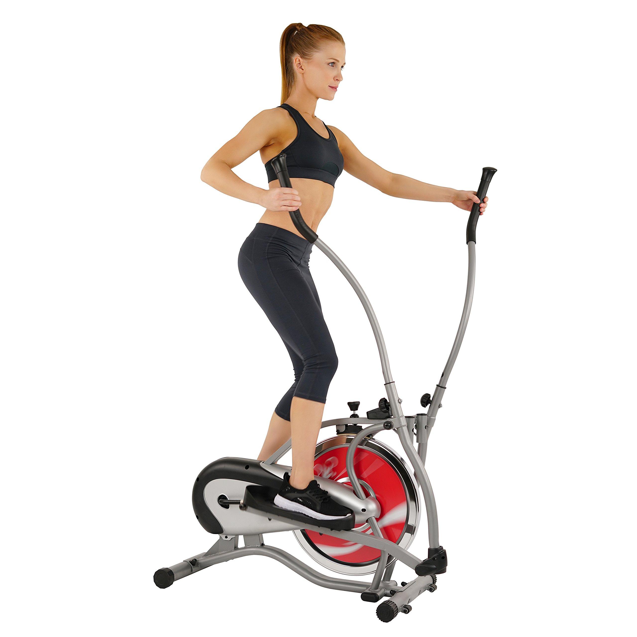 Sunny Health & Fitness SF-E1405 Flywheel Elliptical Trainer, Gray by Sunny Health & Fitness (Image #3)