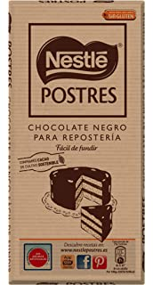 Nestlé POSTRES Chocolate negro para fundir - Tableta de chocolate para…