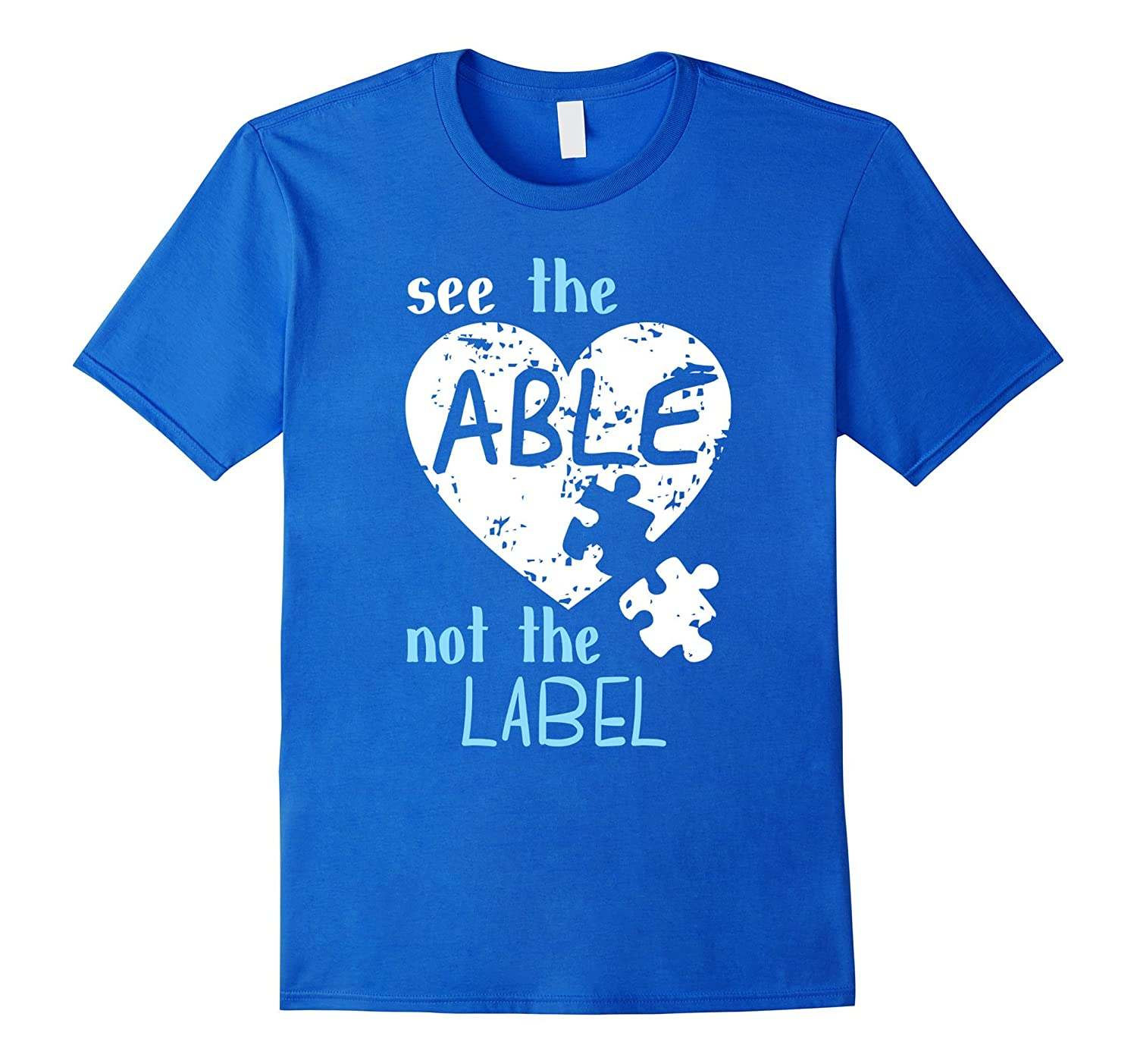 See the Able Not The Label Autism Awareness Month T Shirts-CD