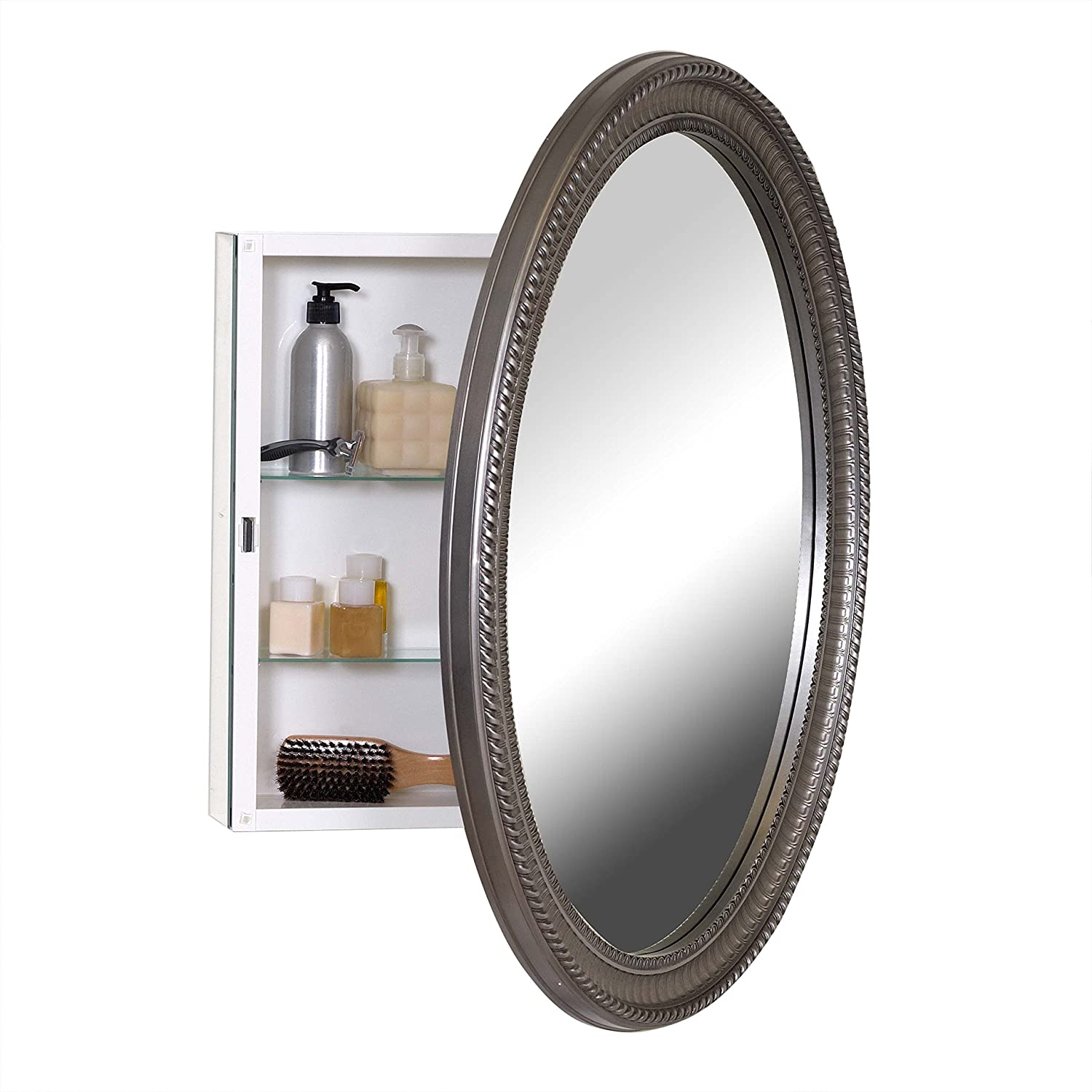 Oval medicine cabinet surface mount mirrored medicine cabinet surface mount medicine cabinets Oval bathroom mirror cabinet
