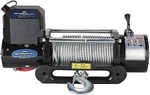 MotoAlliance VIPER Winch 12 VDC 8500lb/3856kg, Steel Hawse, Wireless Remote, STEEL Cable