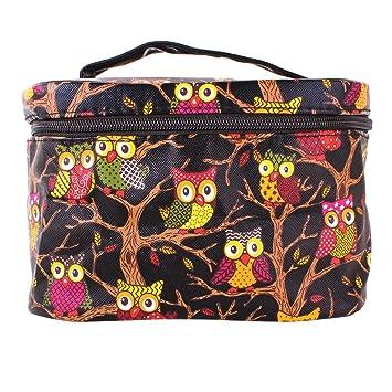 e664edd880 YESURPRISE Ladies Owl Pattern Cosmetic Makeup Bag Case Travel Toiletry Wash  Hand Beauty Bag Black Fashion