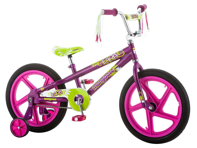 Mongoose Girls Lark Bicycle with 18 Wheels, Pink by Mongoose B0183SEYHK