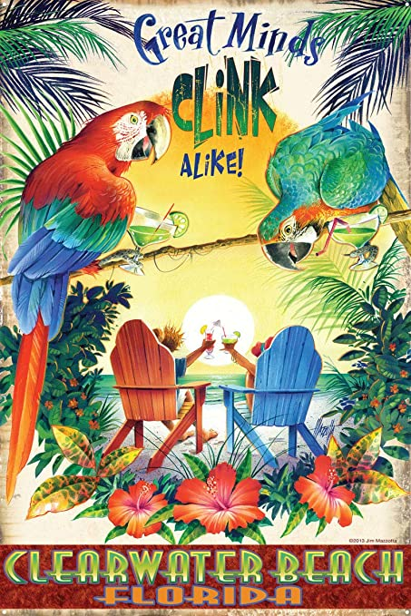 Amazon com: Great Minds Clink Alike Clearwater Beach Florida