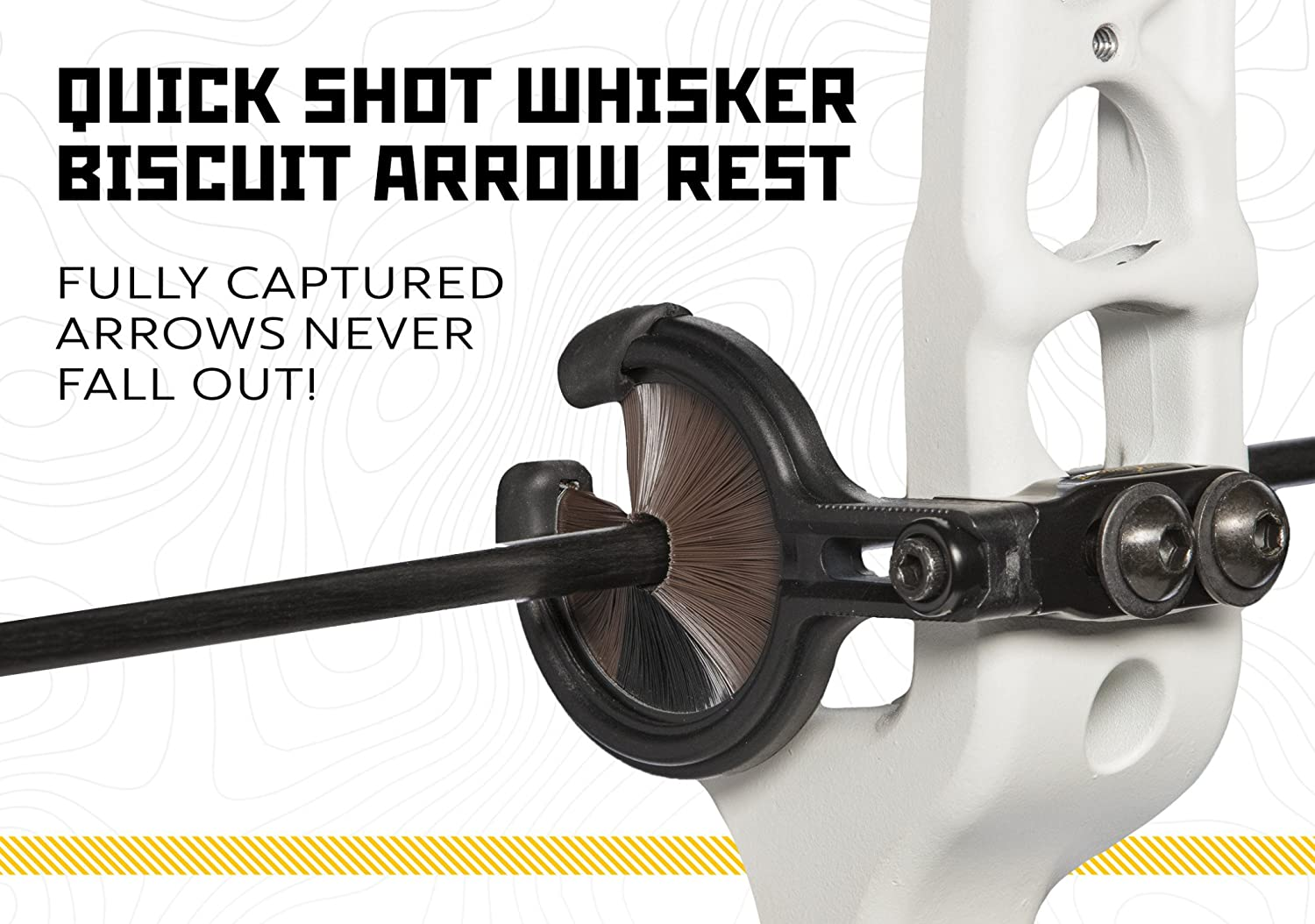 Accessories Charitable Trophy Ridge Large Whisker Bicscuit Arrow Rest Bow Archery Used With Mount Nice