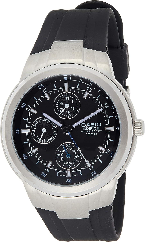 Amazon.com: Casio Men's EF305-1AV Edifice Multifunction Watch With Black  Resin Band: Casio: Watches
