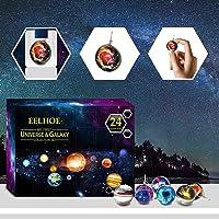 Advent Calendar,Healing Gemstones & Crystal Advent Calendar,Universe Galaxy Planet Pendant,2021 Christmas Countdown…