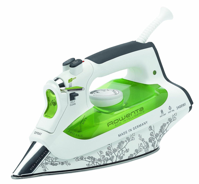 Rowenta Eco Intelligence DW6020 Dampfbügeleisen (2400 Watt, 40 g/Min. Dampfleistung, 180 g/Min. Dampfstoß, Auto Off) weiß/grün 180 g/Min. Dampfstoß DW 6020