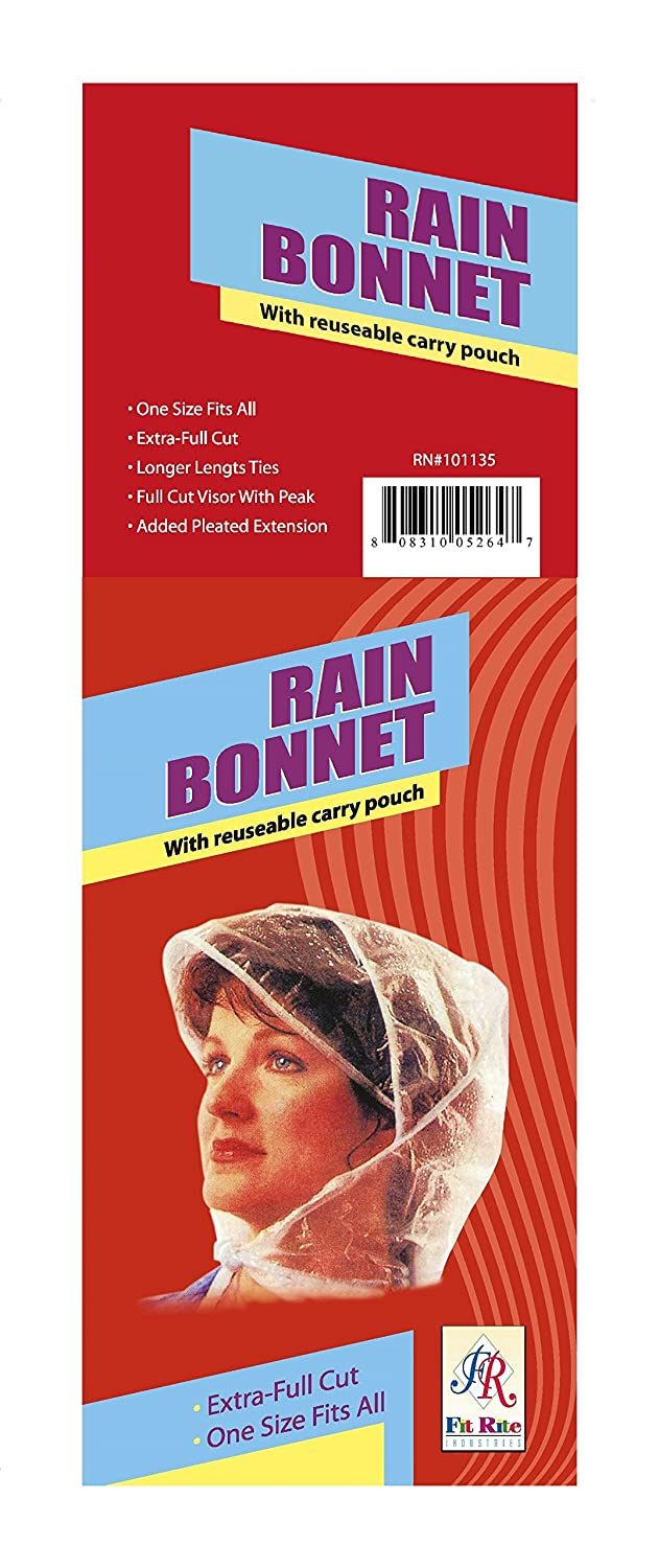 f7224a299f342 Fit Rite Rain Bonnet with Full Cut Visor & Netting - One Size Fits All at  Amazon Women's Clothing store: