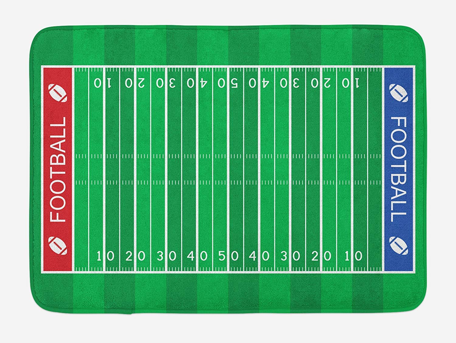 MSGDF Football Bath Mat, American Football Field Playground ...