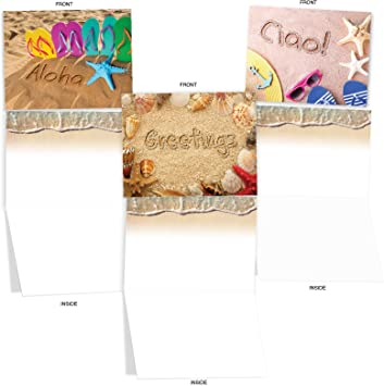 M3103 UNDER THE SEA 10 Assorted All-Occasion Note Cards w//Matching Envelopes.