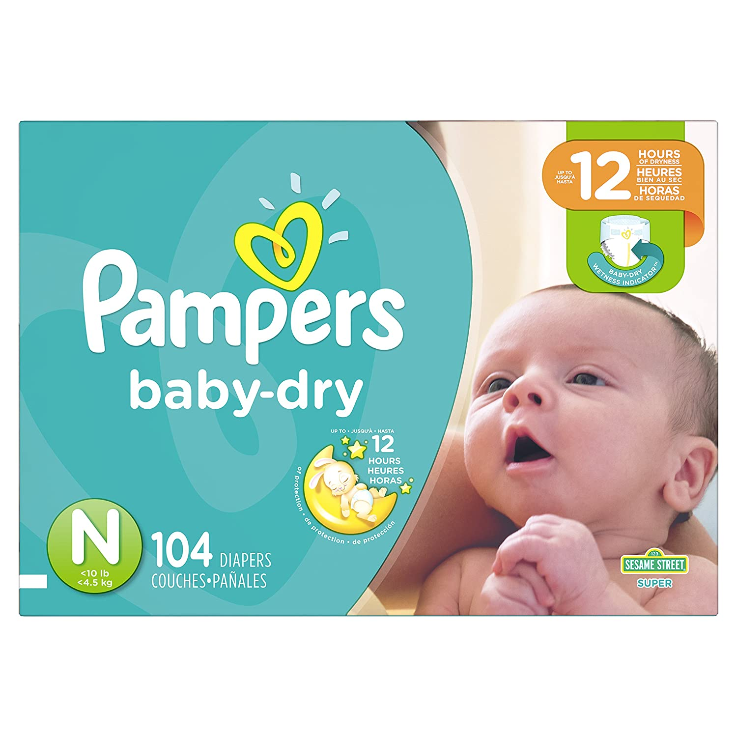 Pampers Baby Dry Disposable Diapers Size 1 Super Pack 037000862215