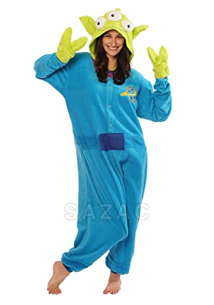 Little Green Man Kigurumi - Adult Costume