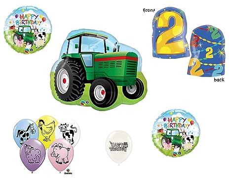 10 Piece Farm Theme Balloon Bundle With 1st 9th Birthday Option 2nd