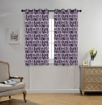 Superbe Oobon Stylish Window Curtains,Purple,Prison Cell Day Counting On A Wall  Inspired Hand
