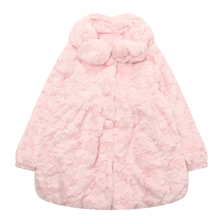 Richie House Girls' Lovely Coat with Short Fleece RH1472