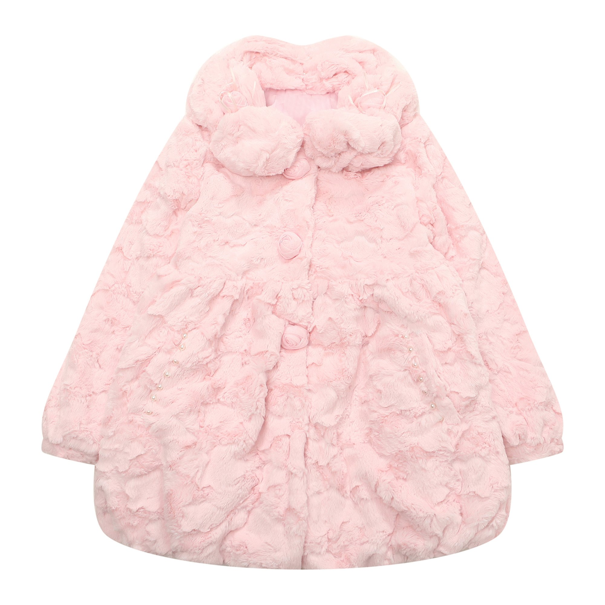Richie House Big Girls' Lovely Coat with Short Fleece RH1472-8/9