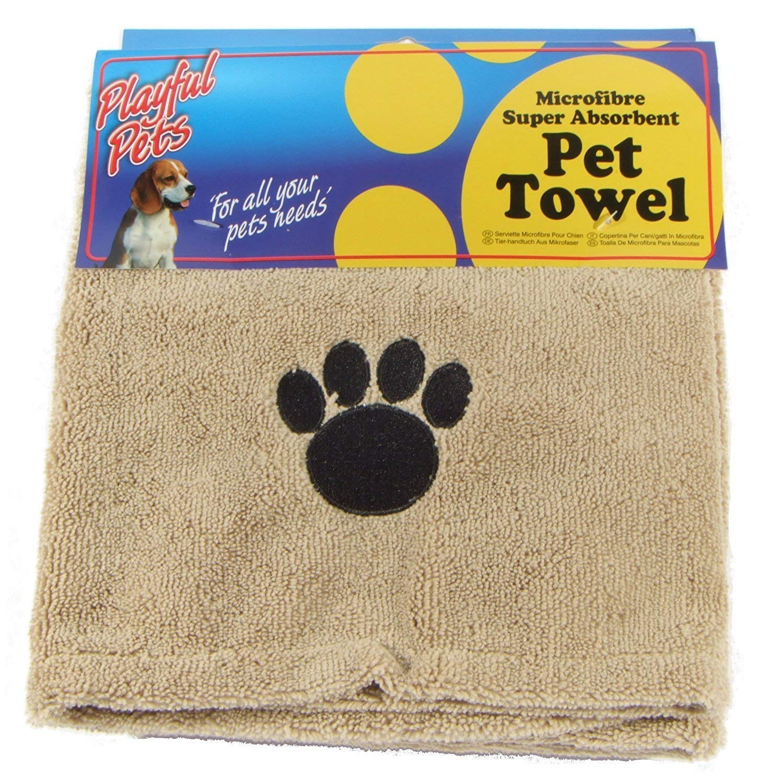 Amazon.com : Playful Pets Dogs/Cats Microfibre Super Absorbent Drying Pet Towel 43