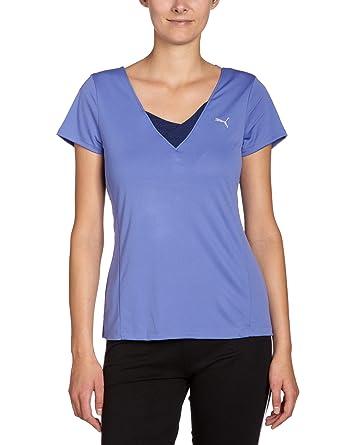 Puma T - Camiseta de fitness para mujer, tamaño XS, color violeta storm