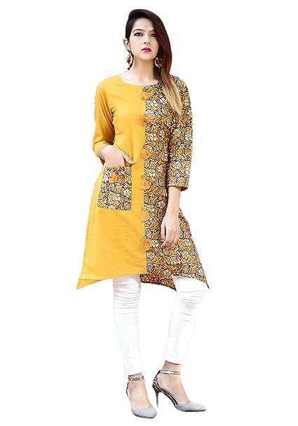 b6d05e0333a Vihaan Impex Indian Kurtis for Women Kurti Kurtas for Women Bust Size 36  Inches Multicolor Kurti